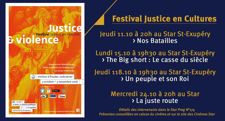 Festival Justice en Cultures 2018