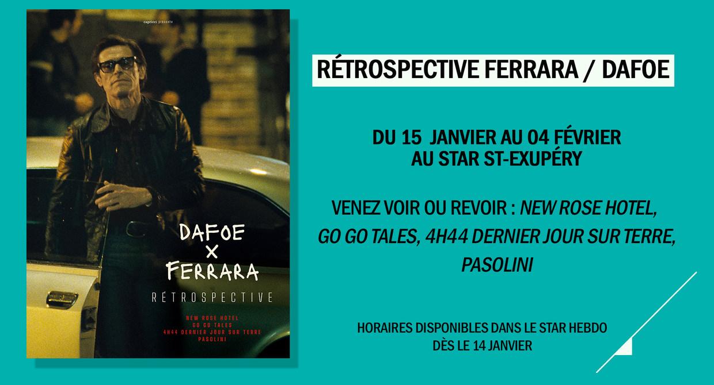 Rétrospective Abel Ferrara/Willem Dafoe
